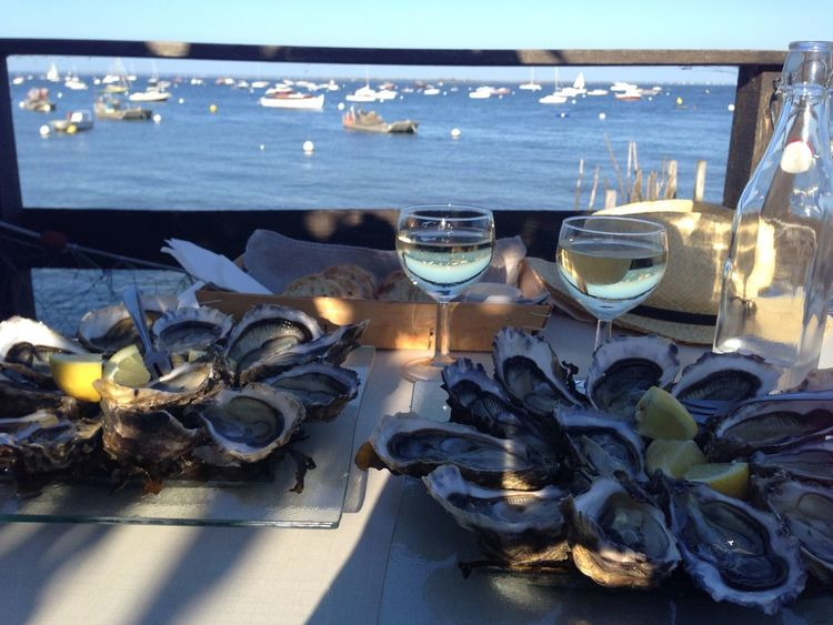 Bassin d'Arcachon Summertime Bay Oyster Time Oyster  Nature No People Sunlight Food And Drink Sea Glasses Table Glass Water Food Outdoors