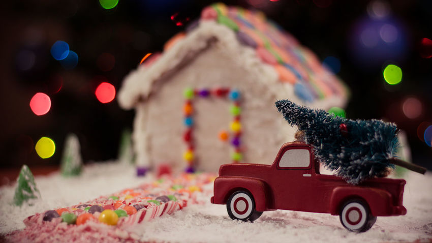 Gingerbread house Gingerbread Holiday Food Winter Snow Truck Gingerbreadhouse Red Truck Gingerbread House Background Christmas Bokeh Christmas Tree Cookies For Santa Christmas Holidays Candycane  Candy Cane Bokeh Treat Food EyeEm Selects Night Before Christmas Car Multi Colored Red Street Land Vehicle Outdoors Night Toy Car No People