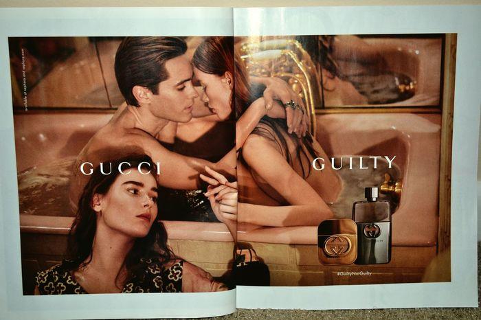 Gucci and Jared? Beautiful. Jared Leto GUCCI Guilty Elle Magazine Models Bathtub