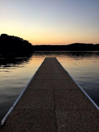 Boat Dock Calm Dusk Waves Serene Water IPhoneography Sunset Peaceful Lake Enjoying Life