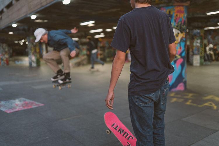 Dark Graffiti Skateboarding Skatepark Boy Day Father Kick Flip Lifestyles Men Outdoors People Real People Skate Skateboard Skater Son Adventures In The City
