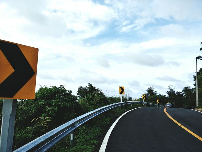 Road To Nowhere Road Sign Way To Go Home Thailand Hatyaicity Cloud - Sky Road People Outdoors Tree Sky Day