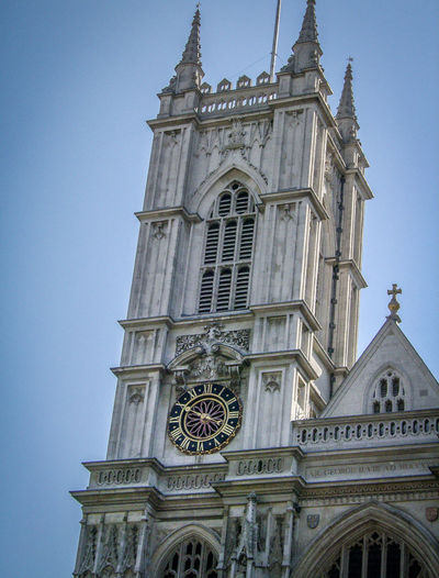 Architecture Building Exterior Built Structure Chiesa Church Clock Clock Tower Day England Gran Bretagna Great Britain Großbritannien Inghilterra London Londra Low Angle View No People Outdoors Place Of Worship Religion Rose Window Sky Spirituality Tower Travel Destinations