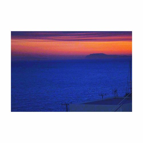 I love it...sunset !🌅 #sunset#amorgos#relax#blue_sea#photo Colors Orange Sky Blue Sea Beutiful Day Moments Amorgos Kyclades Greece Photooftheday Top View Memories Landscape Antennas
