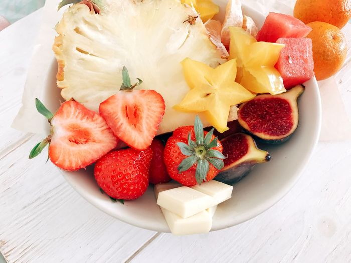 Strawberry Food Berry Fruit Food And Drink Fruit Healthy Eating Freshness Wellbeing Sweet Food Ready-to-eat Plate No People Table High Angle View Sweet Kiwi Still Life Indoors  SLICE Indulgence