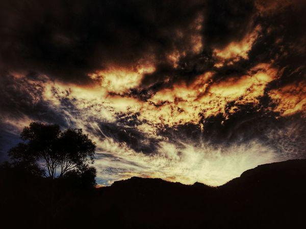 Clouds over Halls Gap, Australia.