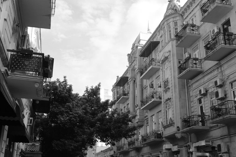 BYOPaper! Baku Azerbaijan Tarqovu Lviv, Baku Building Exterior Architecture Built Structure Low Angle View Sky Outdoors Tree Day No People Awning City