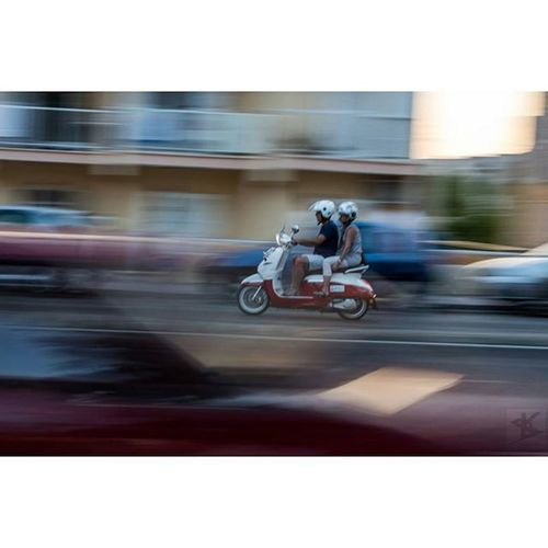 Driving Fast Motorcycle Mottorad street vespa cars canoneos700d canon alcudia mallorca waiting for the bus :)