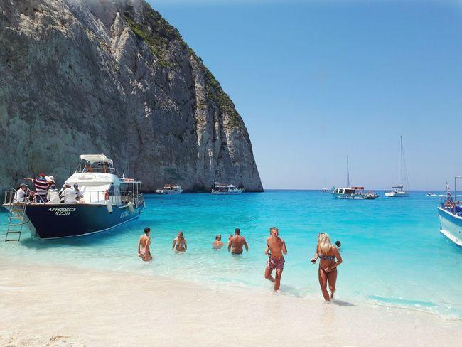 Zante Zakynthos Shipwreck Bay Water Nautical Vessel Sea Beach Sand Blue Yacht Water's Edge Scuba Diving Sky