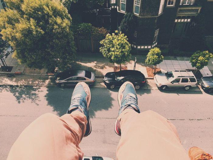 rooftop San Francisco Rooftop Lecoqsportif Sneakers Roadtrip California LastDay