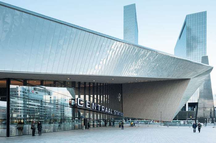 Rotterdam, Netherlands - March 23, 2014: Rotterdam Centraal Railway Station. Architecture Built Structure Business Finance And Industry Centraal Station City Day Modern Netherlands Outdoors Railwaystation Rotterdam Sky Skyscraper Transportation