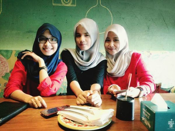 Again... My Bestfriends Enjoying Life Hanging Out Hijab Style