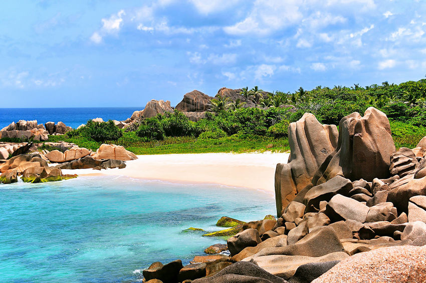 Grande L'Anse, Beach on Island La Digue, Seychelles