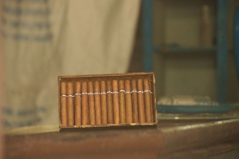 Cuba Cigar Close-up Cuban Day Focus On Foreground Indoors  No People Puro Table