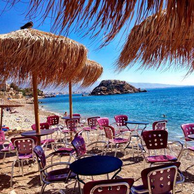Greek coffee break at Scuba Beach Bar