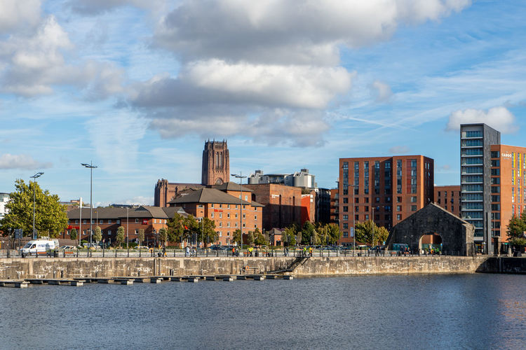 Liverpool Liverpool Cathedral Sea United Kingdom Travel Arch Bridge - Man Made Structure Downtown District Standing Water Office Building