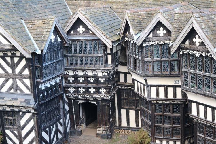 Architecture Built Structure Building Exterior Window Residential Building Residential Structure Railing House Entrance Balcony City Outdoors History Façade Day Architectural Feature Exterior No People Apartment Office Building National Trust Littlemoretonhall Little Moreton Hall