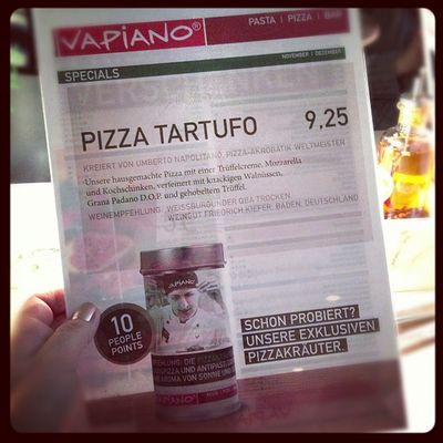 Mjam! Wer Trüffel mag, sollte diese Pizza probieren. #vapiano Vapiano