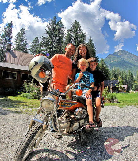 Modern Father Belong Anywhere Family Landscape Hanging Out We Are Family Unlikely Heroes Our Family Photo - Remotely Rocking the Trail 90. People Together