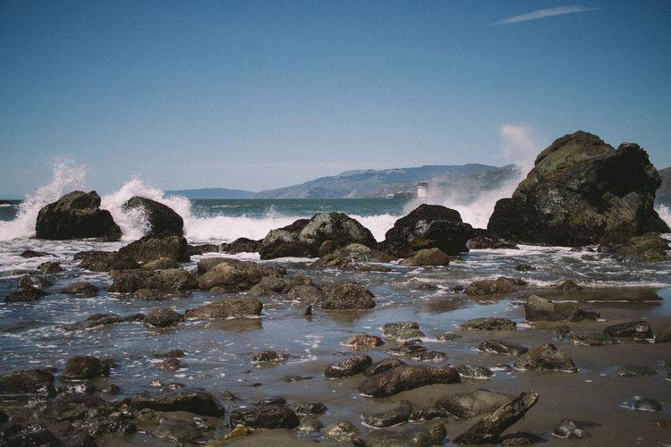 Beach Mile Rock Beach Ocean Outdoors Physical Geography Rock San Francisco Seascape Vignette Wave