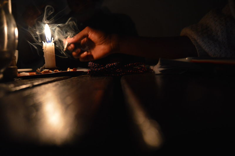 They say Cigarettes kill and Mary Jane heals, the Candlelight is dear, Beads communicate with ancestory lines. I don't know whst this caption is meant to say. I Love Candles And Mary Jane