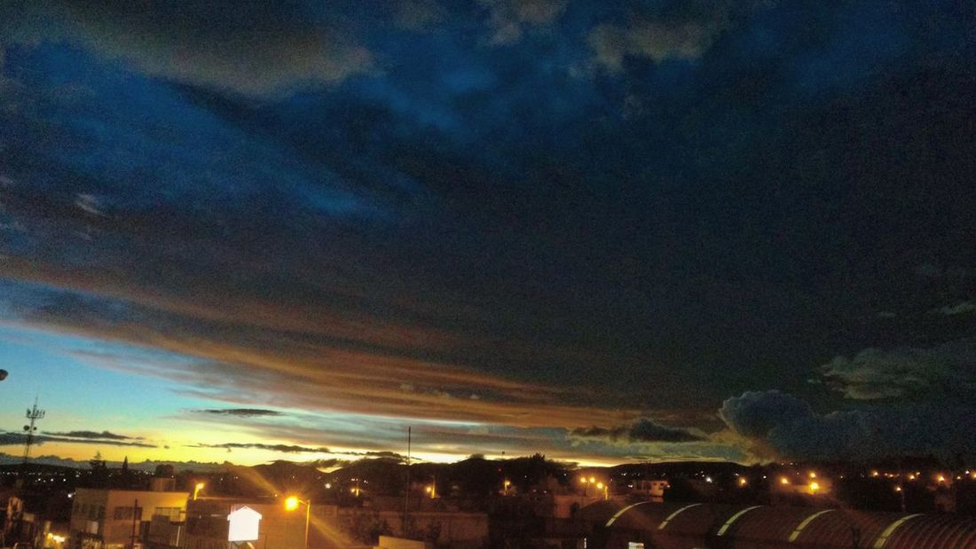 The beginning of the end - Sky Cloud - Sky No People Sunset Beauty In Nature Night Illuminated Scenics Building Exterior