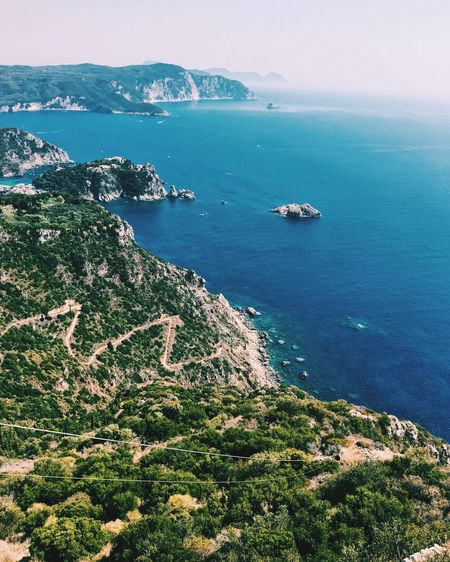 EyeEm Selects Beauty In Nature Nature Water No People Tranquility Cliff Landscape Greece Korfu Be. Ready. Summer Exploratorium
