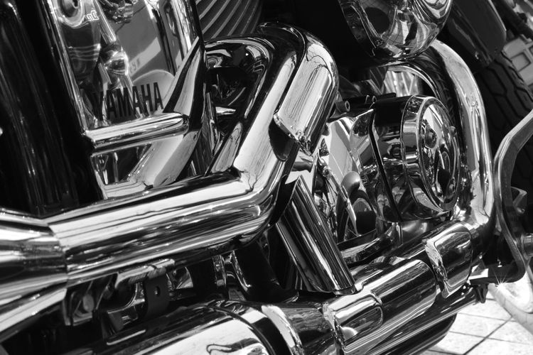 Mechanical Things Shining Chrome Close-up Day Indoors  Large Group Of Objects Monochrome Photography No People Silencers Stack