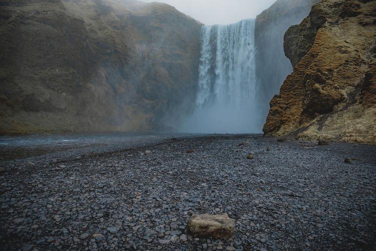 Skogafoss in Iceland Iceland Исландия Waterfall Nature Travel Family Travels