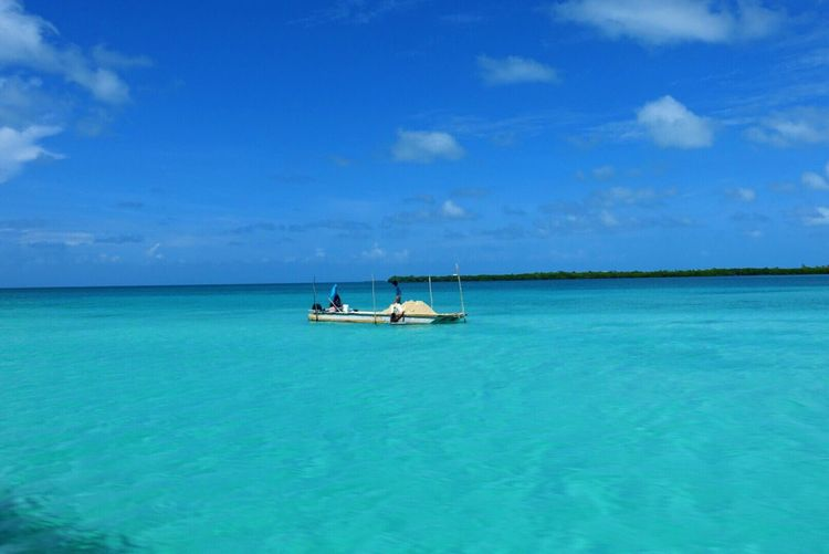 Belize  Carribean Cayecaulker Boat Ocean Blue Tourism