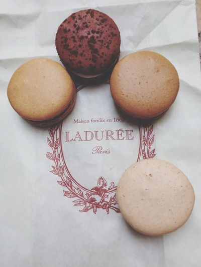 Macarons Sweets LADURÉE.  Eating