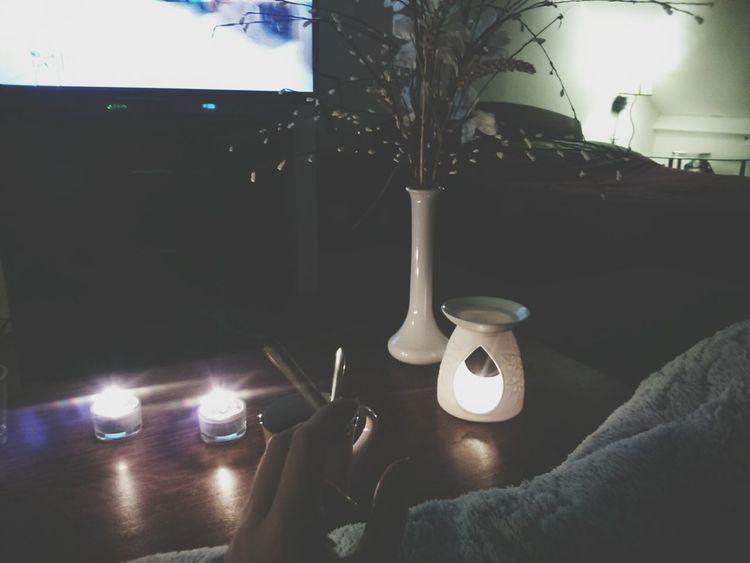 Home Sweet Home Relaxing Enjoying Life Candlelight