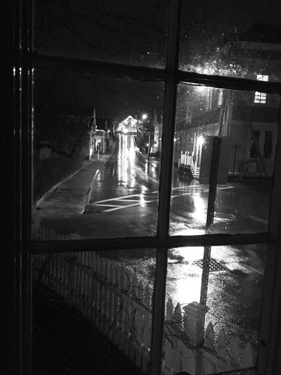 Streetphotography Blackandwhite Illuminated Night Glass - Material Transparent No People Mode Of Transportation Architecture Window Reflection