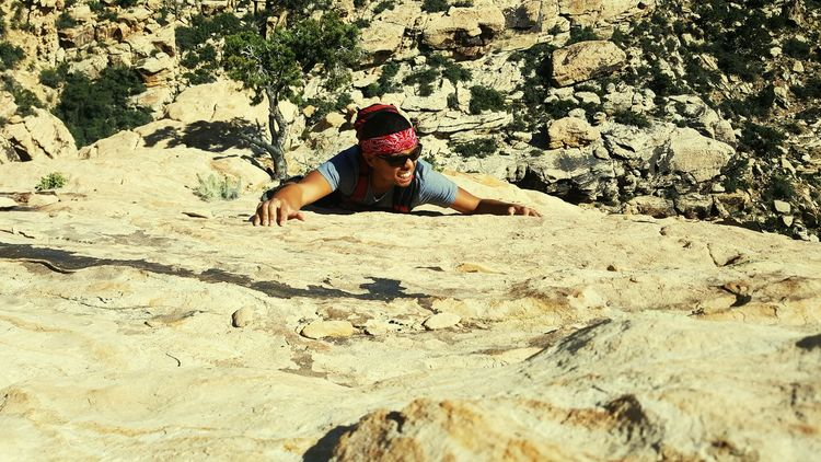 """Thrill is another drill"" - Me Climbing Redrockcanyon Natureisawesome Eye Em Nature Lover Rocky Mountains The Following NatureIsBeautiful Hot Day Cliff Climbing Nature Hike Great Scenery Hikingadventures Nature Photography"