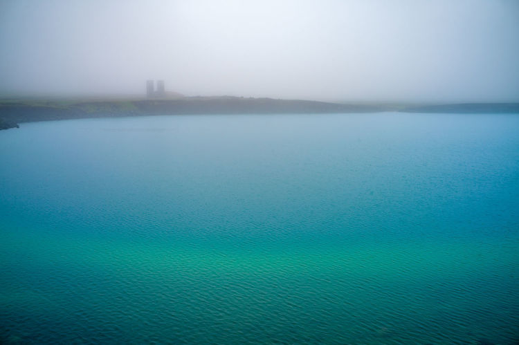 Grænavatn (the green lake) in the moody athmosphere. Iceland. Water Tranquility Scenics - Nature Tranquil Scene Beauty In Nature Fog Nature No People Environment Landscape Outdoors Mist Mystical Mystical Atmosphere Green Color Green Lake Iceland Grænavatn Mood Moody Weather Moody Nature