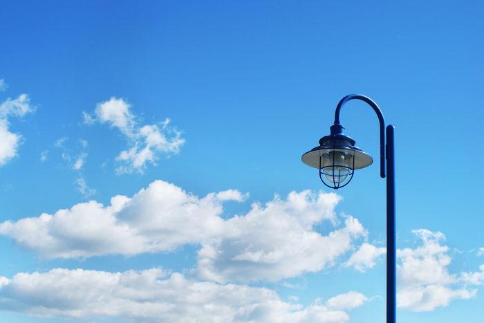 Blue Cloud - Sky Day Gas Light Lighting Equipment Low Angle View No People Outdoors Sky Street Light
