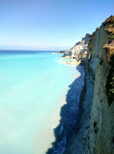 Peroulades CORFU ISLAND Corfu Sea Greece Blue Blue Sky Bluesky Bluewater Bluewave Seventh Heaven Kerkira Sunset Beach