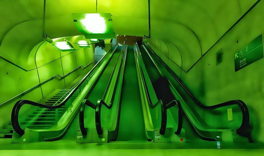 Gare Garesaintlazare Streetphotography Underground Underground Station  Green GoToWork Paris Paris Je T Aime