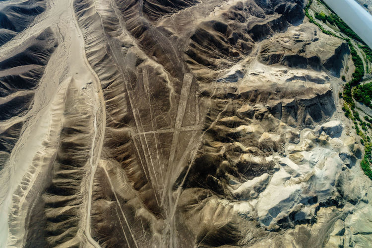 Above Alien America Ancient Cessna Culture Desert Geoglyph Geometric Shapes International Landmark Lines Nasca Lines NASCAR Nazca Nazca Lines Peru Plane Plateau Shapes South Travel Landscapes With WhiteWall UNESCO World Heritage Site Showcase March A Bird's Eye View