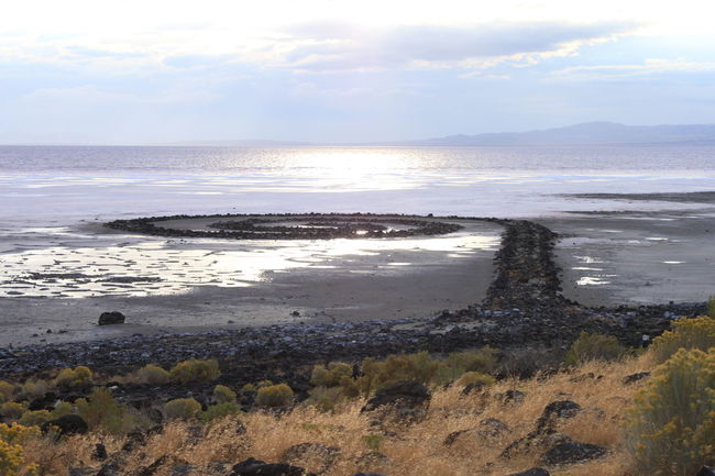Coastline Great Salt Lake Jetty Rock Jetty Shore Spiral Spiral Jetty Water Water Reflections