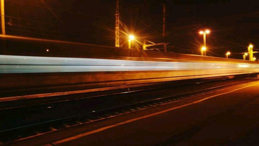 Zdjęcianiespodziewane Kr_85 Inowrocław Kolej Noc Poland Speed Night Transportation Motion Illuminated Light Trail Rail Transportation Business Stories The Traveler - 2018 EyeEm Awards HUAWEI Photo Award: After Dark
