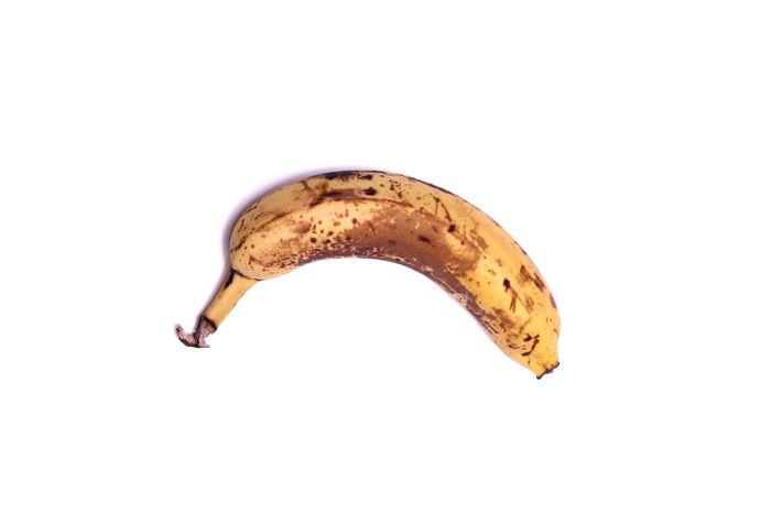 Banana Banana Banana Fruit Isolated Spotted Banana Close-up Closeup Food Fruit Healthy Food Isolated On White Isolated White Background One Raw Food Ripe Ripe Fruit Spotted Banana Studio Shot Sweet Tasty Tropical Fruit White Background White Backround White Color Yellow
