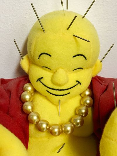 My buddha loves acupuncture! Paint The Town Yellow Acupuncture Needles Acupuncture Figure