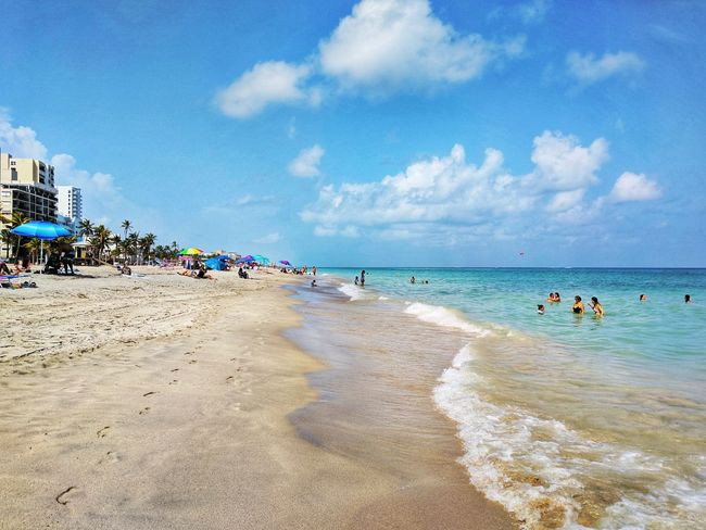 Quick trip to the beach Beach Sand Sea Vacations Sun Travel Destinations Tropical Climate Wave Nature Florida Tourist Hot Day Humid Forever Summer