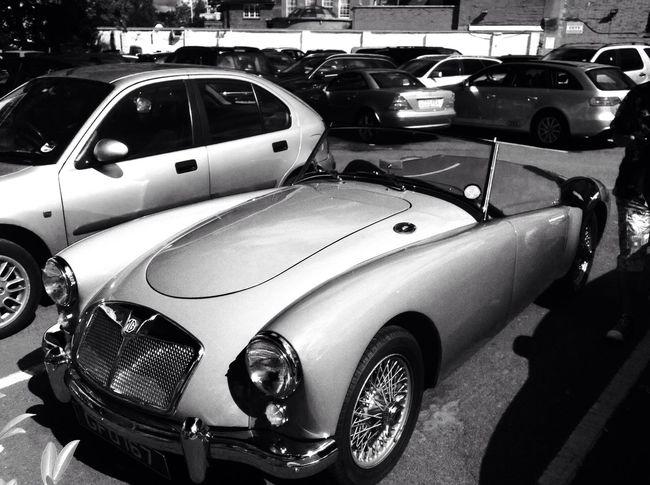 Beautiful Car in London Blackandwhite