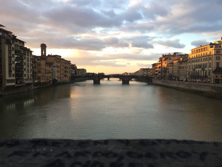 #Florence Architecture Built Structure Building Exterior Sky Water Bridge - Man Made Structure City First Eyeem Photo