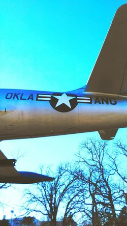 Sky Airplane Tree No People Low Angle View Day Outdoors Air Vehicle OklahomaStrong