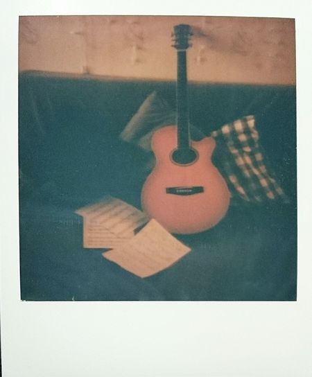 Music Musical Instrument Guitar Polaroid Polaroid Pictures Impossible Project