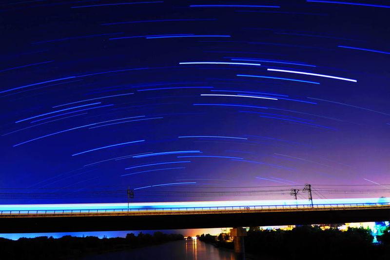 Sonyalpha Guadalquivir Largaexposicion Fotografianoturna Startrails San Juan De Aznalfarache puente de hierro