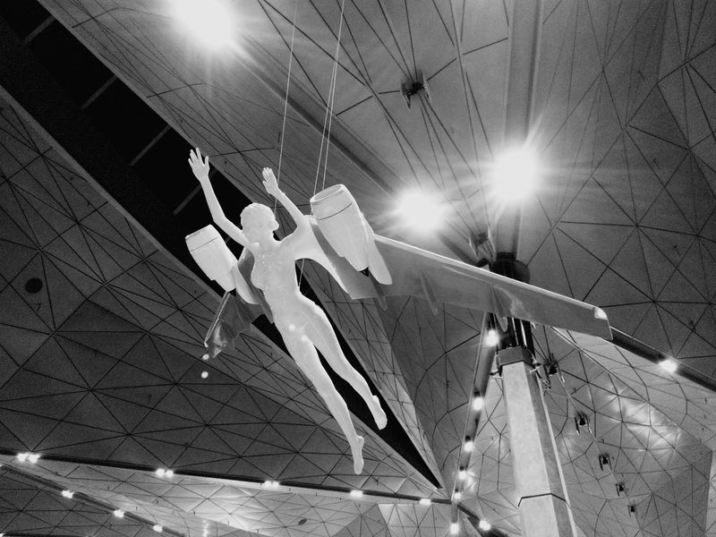 Pulkovo Airport Saint-Petersburg At The Airport Interior Design Statue Light And Shadow Black And White Monochrome Eye4black&white